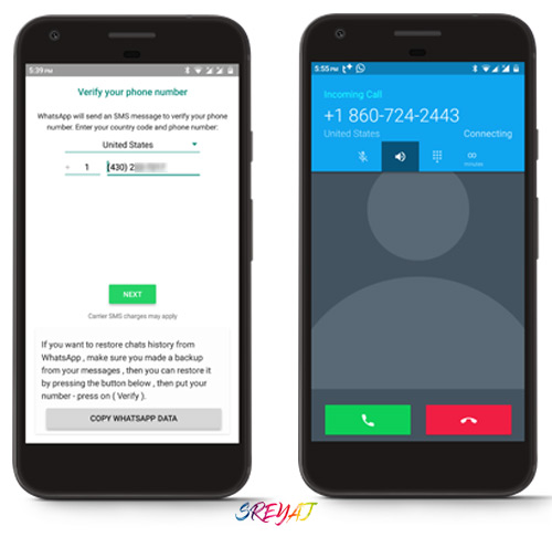 Registering with US phone number - GB Whatsapp Download