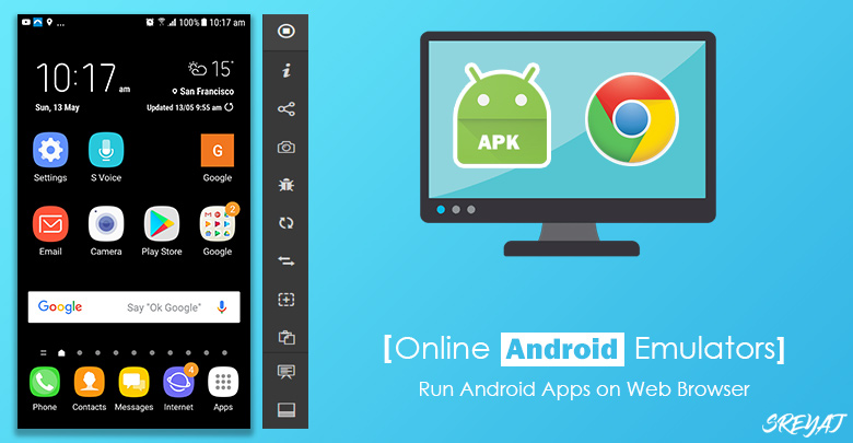 Run Android Apps on Browser - Online Android Simulator | Sreyaj.com