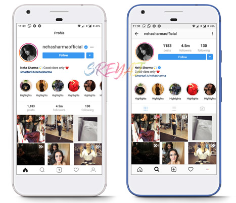 Profiles section in Instagram Lite vs Instagram - Download Instagram Lite Apl