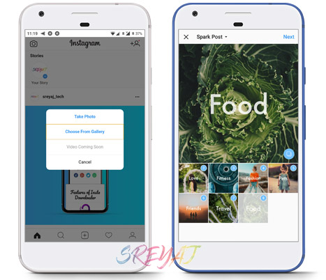 Uploading in Instagram Lite vs Instagram - Download Instagram Lite