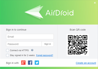 AirDroid Sign Up - Remotely Control Android