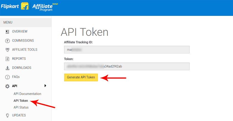 How to get Flipkart Affiliate API Token