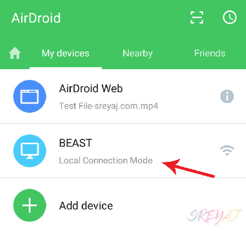 AirDroid Local Connection Mode - Remotely Control Android