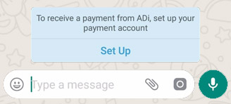 WhatsApp Payments Invite