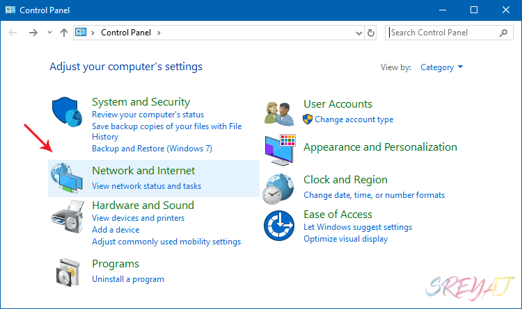 Control Panel Windows 10 - Find WiFi Password
