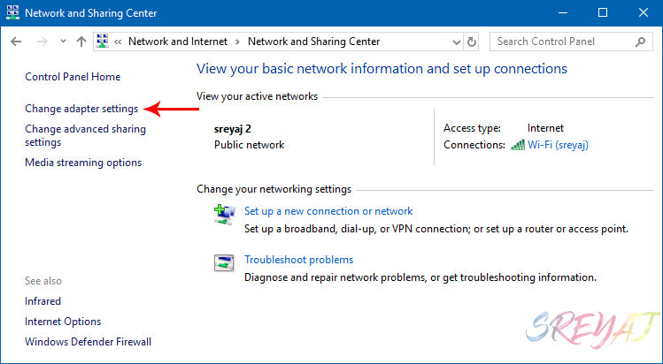Network Center Windows 10 - Find WiFi Password
