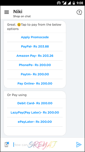 Niki Payment Options - Best Recharge Apps in India