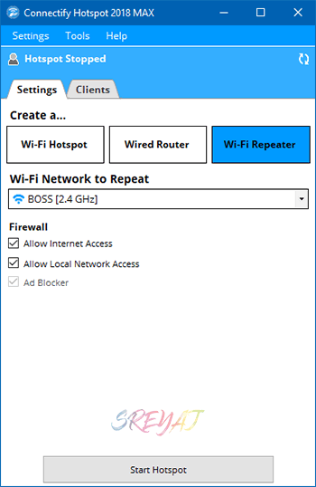 Wi-Fi Repeater using Connectify