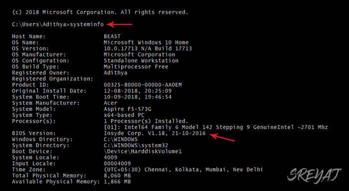 Find Age using Command Prompt - How old is my computer
