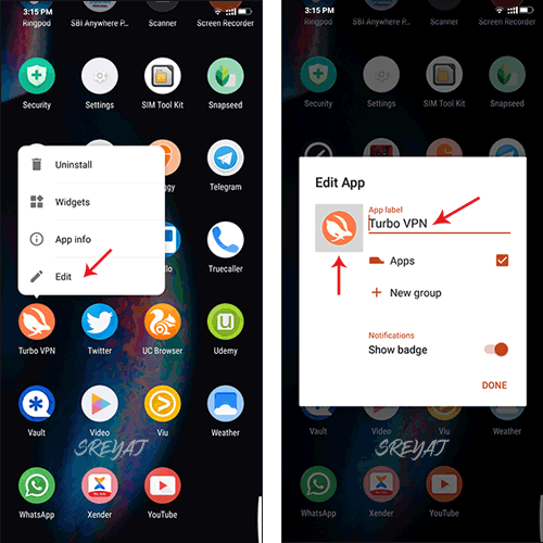 Hide apps on Android by disguising the app.