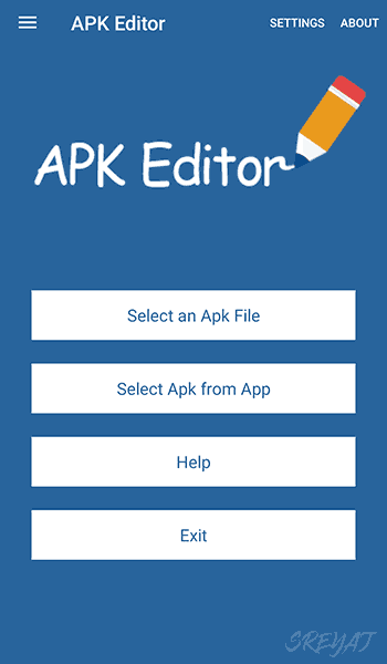 APK Editor Application